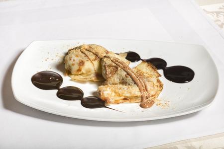 crepes: Crepes de chocolate de postre
