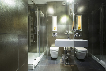 bathroom: Modern bathroom interior