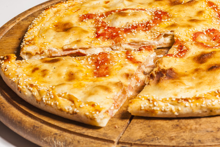 crust: Double crust pizza