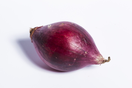 kitchen spanish: Single red onion Stock Photo