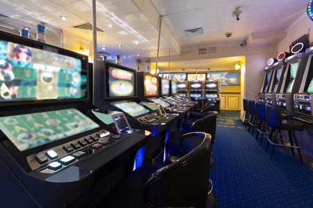 Slot machines at the casino Banco de Imagens - 44434857