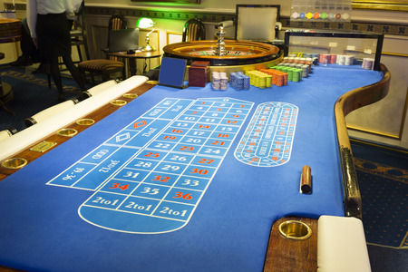 roulette table: Roulette table at casino Stock Photo