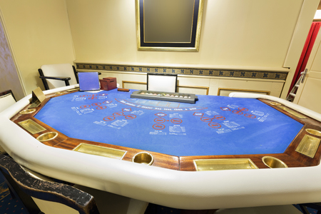 em: Ultimate texas hold em poker table at casino
