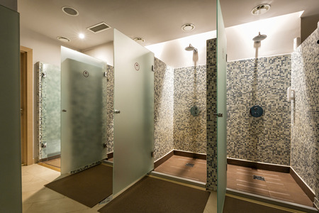 shower: Shower room at wellness center