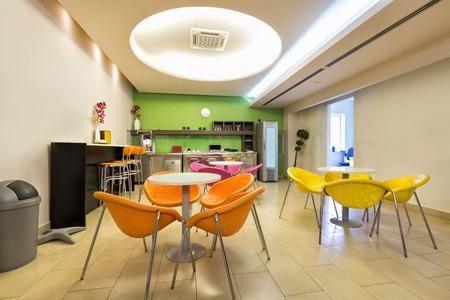 Small office canteen interior Standard-Bild