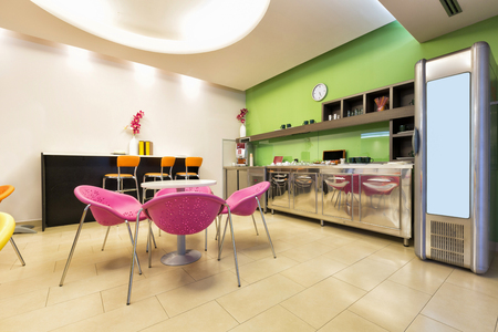 color: Small office canteen interior Stock Photo