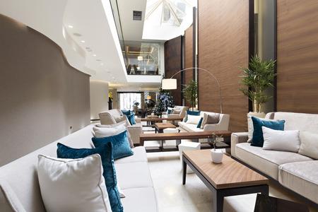 hotel building: Modern luxury hotel lobby