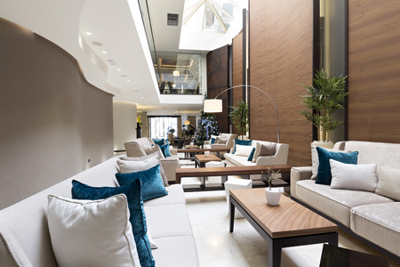 Moderne luxe hotel lobby