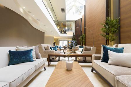 hotel lobby: Modern luxury hotel lobby