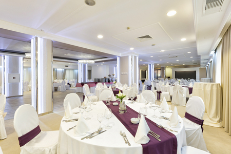 Elegant banquet hall interior
