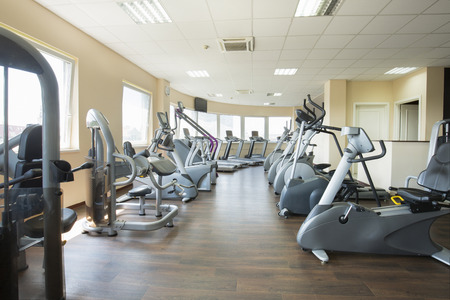 Modern gym interior