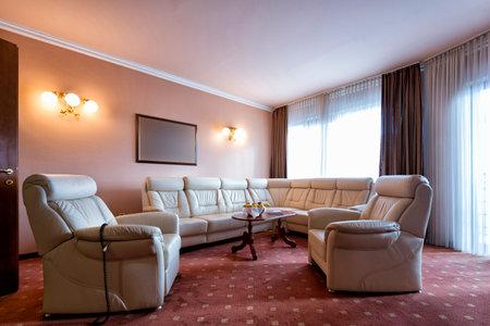 hotel suite: Living room interior in hotel suite