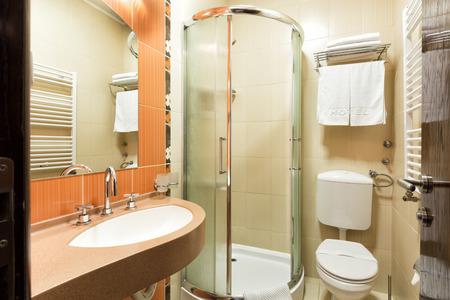 bathroom interior: Elegant hotel bathroom interior Stock Photo