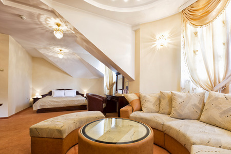 suite: Luxury hotel suite interior