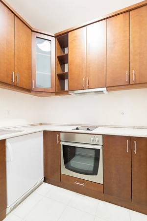 kitchen cabinets: Interior of a small apartment kitchen