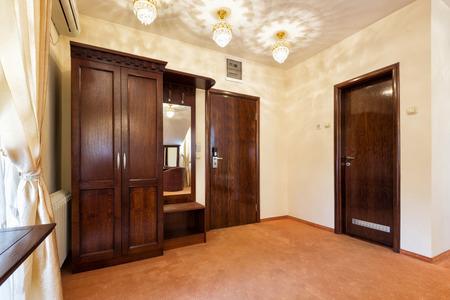 entrance hall: Elegant hotel room entrance hall