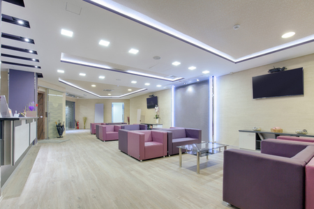 hospital building: Spacious waiting room in a modern clinic