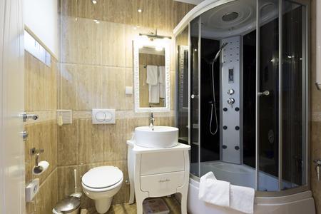 dryer  estate: Bathroom interior Stock Photo