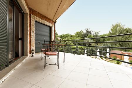 luxury apartment: Balcony of a luxury apartment Stock Photo
