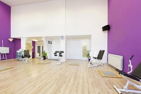 school gym: Interior of a fitness club