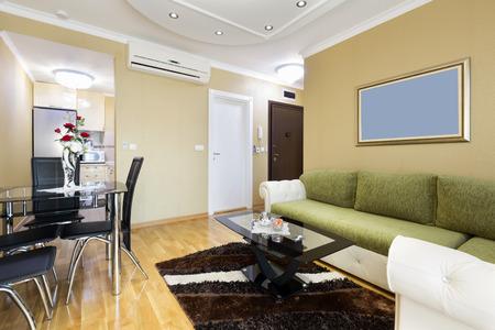 luxury apartment: Interior of a luxury apartment living room Stock Photo