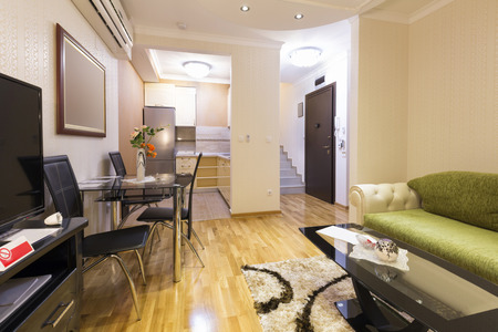 apartment living: Interior of a luxury apartment living room Stock Photo