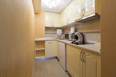 kitchen design: Kitchen in a modern apartment Stock Photo