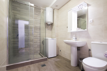 bathroom interior: Interior of a modern bathroom