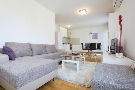 modern living room: Elegant modern living room interior Stock Photo