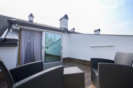 luxury apartment: Rooftop balcony of luxury apartment