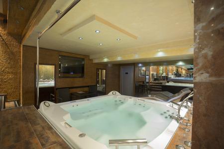 hydromassage: Jacuzzi in a spa center Stock Photo