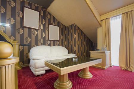 luxury hotel room: Luxury hotel room interior Stock Photo