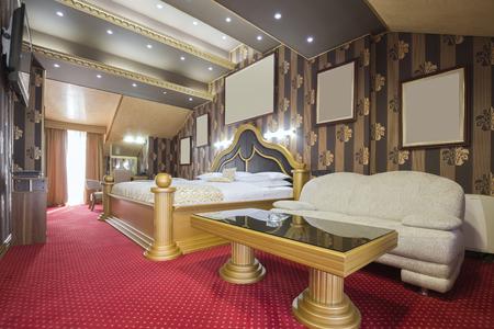 luxury hotel room: Interior of a luxury hotel room