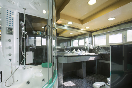 luxury bathroom: Interior of a luxury bathroom Stock Photo