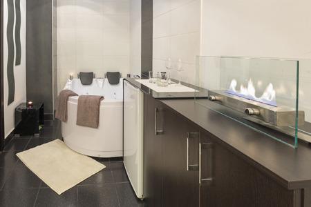 Interno di un bagno di lusso