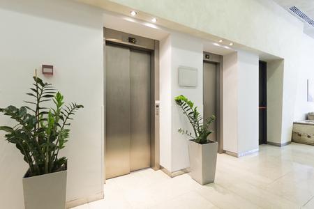elevators: Elevators in hotel lobby