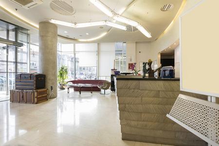 desk area: Reception area with reception desk