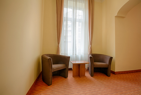 armchairs: Armchairs in a hotel room