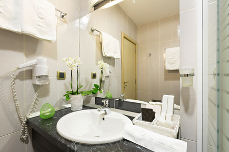 bathroom interior: Hotel bathroom interior Stock Photo