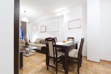 Interior del apartamento - comedor Foto de archivo