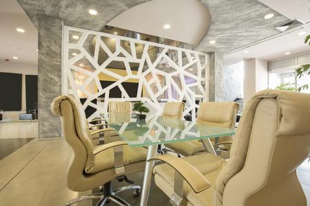 spacious: Spacious meeting room interior