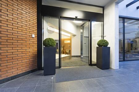 Modern elegant building entrance