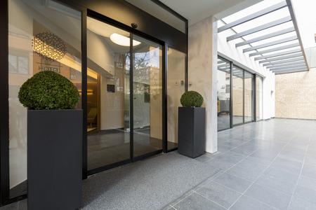 building entrance: Modern elegant building entrance