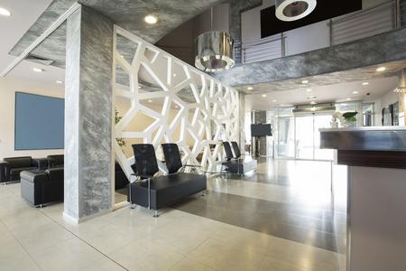 현대 럭셔리 호텔 로비 인테리어