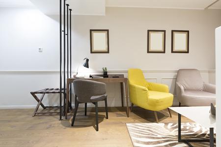 modern living: Modern hotel living room interior