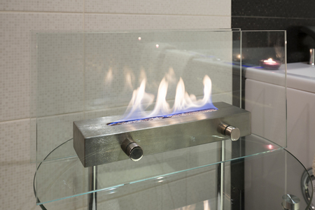 fireplace home: Home decoration - portable glass fireplace