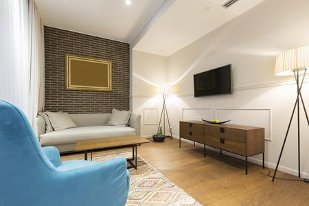 apartment living: Living room interior in modern apartment