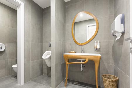 public restroom: Interior of a luxury public restroom