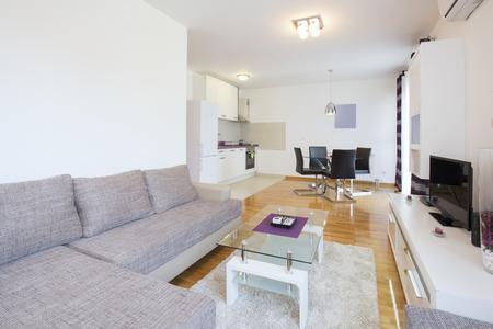 modern living: Elegant modern living room interior Stock Photo