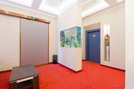aquarium visit: Interior of a hotel lobby Stock Photo